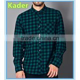 Cotton plaid men shirts brand names Image