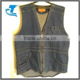 Summer breathable hunting waistcoats wholesale men denim vest
