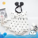 SR-237G cute baby girl images wholesale baby clothes dots organic cotton knit baby body romper