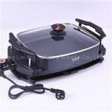 Environmental Safe Non-stick Coating Patent Multi-purpose Electric Grill With Heating Pot Korean TV Grill Double Electric Roasting Pan