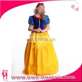 High Qulity Velvet and Silk snow white costume for adult women christmas cosplay costume with petticoat
