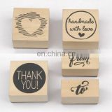 5pcs Best Quality Kids Wooden Stamps for Card Making