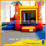 AOQI most popular mini inflatable zoo combo with slide for kids with free EN14960 certificate