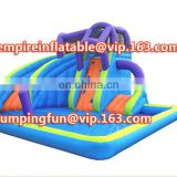 New design meidum size water slide inflatable slide with pool ID-SLM043