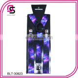 Planet sky cheap price suspender print suspender fashion suspender