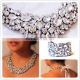 Aidocrystal Handmade Luxury jewellery rhinestone necklace and bracelet african gold plating jewelry set