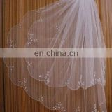 New Hot 2013 2T White ivory Elbow Beaded Edge pearl sequins Bridal Wedding Veil