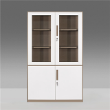 Steel Rectangle File Locker Cabinet glass front storage cabinet