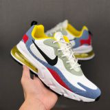 Nike Air Max 270 React nike shoes with springs For women/Men in white/purple