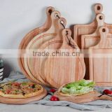 Custom Logo Rubber Wooden Pizza Chopping Board,Pizza Block                                                                         Quality Choice