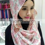 new style 2016 muslim High twist Chiffon HIJAB 180*70cm islamic scarf arab wrap shawl