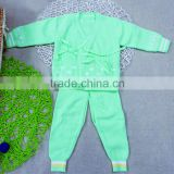 0-1year cheap wash cotton knitted new born baby cardigan underwear for winter
