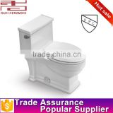 with upc siphonic bathroom Floor mounted s-trap chinese one piece toilet                                                                         Quality Choice