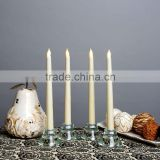 2015 china factory price cheap ivory Battery Operated led taper plastic candle                                                                         Quality Choice