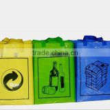 Recyclable glossy Laminated PE PP Woven shopping Bag For Shopper and rubbish and garbage