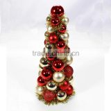 16 inches high Decorative shatterproof plastic indoor tabetop christmas bauble tree