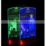Acrylic Flashing Led Light Table Menu Restaurant Card Display Holder Stand                                                                         Quality Choice