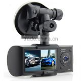 full hd 1080P car camera, dual lens car dvr super nightvision seamless recording dvr car camera