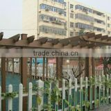 easy installation and non-fade eco-friendly wood plastic composite garden arbour
