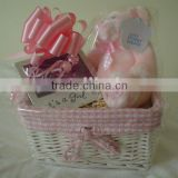 wicker baby gift basket,100% woven by hand,eco-friendly