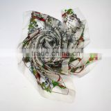yiwu market silk scarf fashion women spring summer silk scarf                                                                         Quality Choice