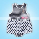 100% cotton summer caters baby girls body wholesale china supplier