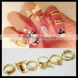 Fashion cute KCgold Bow 5 set Midi finger Knuckle Ring for girl
