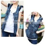New fashion denim ladies vest
