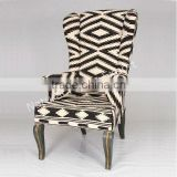 Natural Fibres Export Black White Directore Chair
