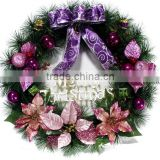 China factory Plastic Custom Christmas wreath / PVC wreath / PE wreath for Chirstmas
