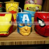 New Arrival Cartoon Mug Avengers Union Iron Man Thor The Hulk Captain America Creative Ceramic Cup For Gift