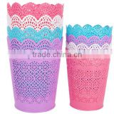 Plastic Kitchen Mini Lace Hollow Out Garage/Trash/Waste Can/Bin/Wastebasket/Storage Barrel