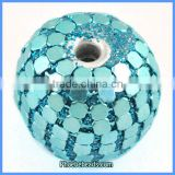 Wholesale Round Light Blue Clay Bracelet Indonesia Beads PCB-M100540