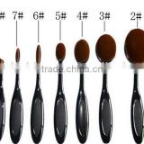 10 PCS Oval Makeup Brushes Set Synthetic Hair Professional / Full Coverage Plastic Face / Eye / Lip MAKE-UP FOR YOU 10 PCS O