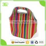 Reusable Shopping Tote Lunch Bag/Cooler Neoprene Lunch Bag with Zipper
