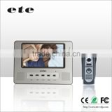 7 inch TFT-LCD screen smart home automation video door phone intercom system ding dong door bell video door bell