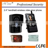 Battery operated wireless video door phone system with release button remote control video intercom for apartment 2.4 inch