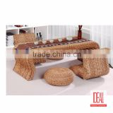Made in China antique patio furniture/rattan furniture table and chair/wicker dining table set