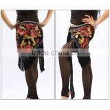 Wuchieal Wholesale Belly Dance Hip Scarves, Belly Dance Hip Belt with Tassels and Sequins