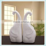 ceramic white elephant figurine for decoration elephant statue