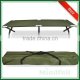 OEM Wholesale 600D Outdoor Aluminum Frame Military Adult Camping Bed