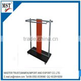 Cart type metal display rack/wire/china suppliers/new products/round flower box
