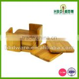 Hot selling Top Grade bamboo wood cup coaster set wholesale