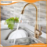 New Products Antique brass Golden long neck faucet