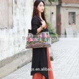 vintage canvas shoulder bag embroide ladies handbags vietnam wrinkle bags little girl handbags from China factory