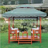 HL 6901 Garden outdoor wooden gazebo modern furniture hotel furniture