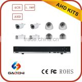 Cctv Ahd camera and dvr 720p security camera system 8 channel bullet dome waterproof camera
