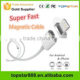 Super Fast 2.4A Magnetic Micro Usb Data Cable for iPhone Magnetic Charger Cable For Samsung Android Magnetic USB Cable