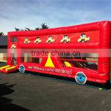 red bus car kids commercial bounce house with slide made of 18 OZ. pvc tarpaulin from China Guangzhou inflatable manufacture