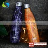 Wholesale Double wall insulated vacuum swell water bottle,cola shaped stainless steel vacuum flask,double wall sport